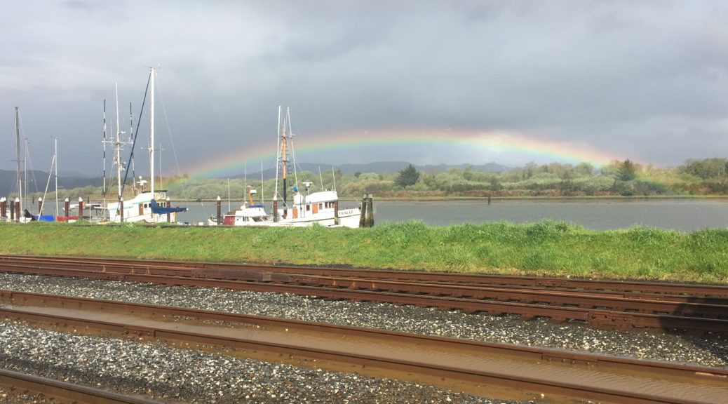 Rainbow over Coos Bay