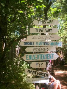 Oregon Country Fair sign